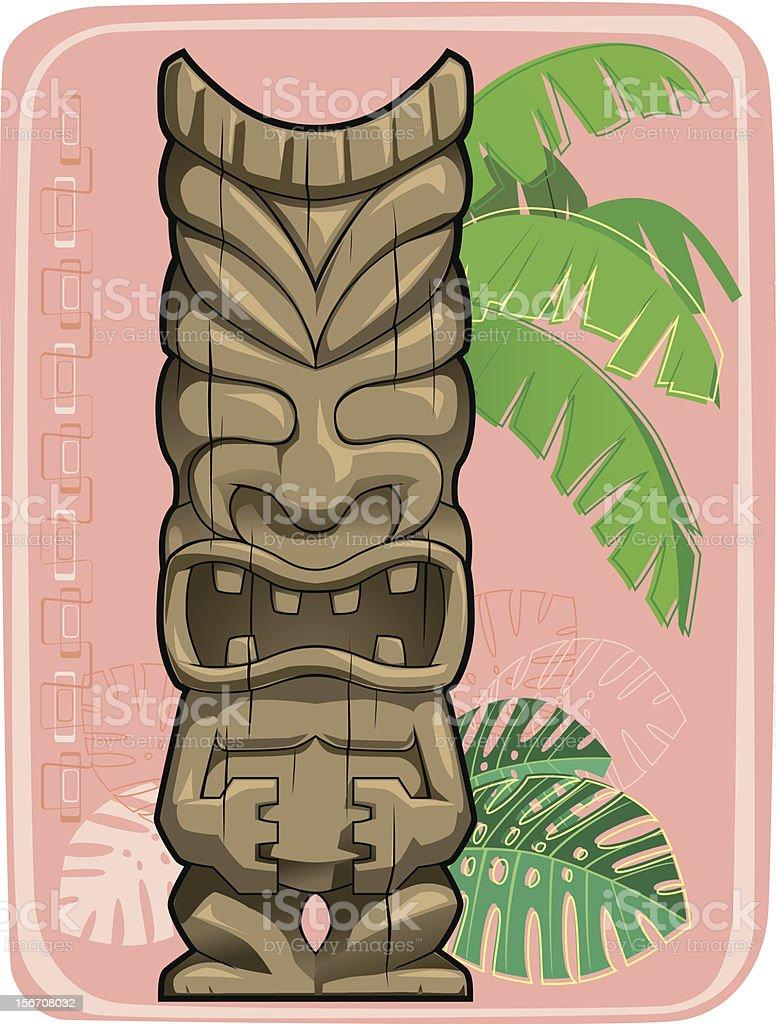 Tiki #1 royalty-free stock vector art