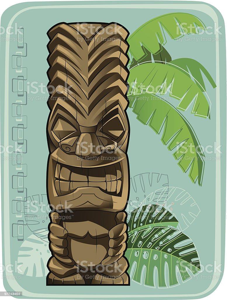 Tiki #4 vector art illustration
