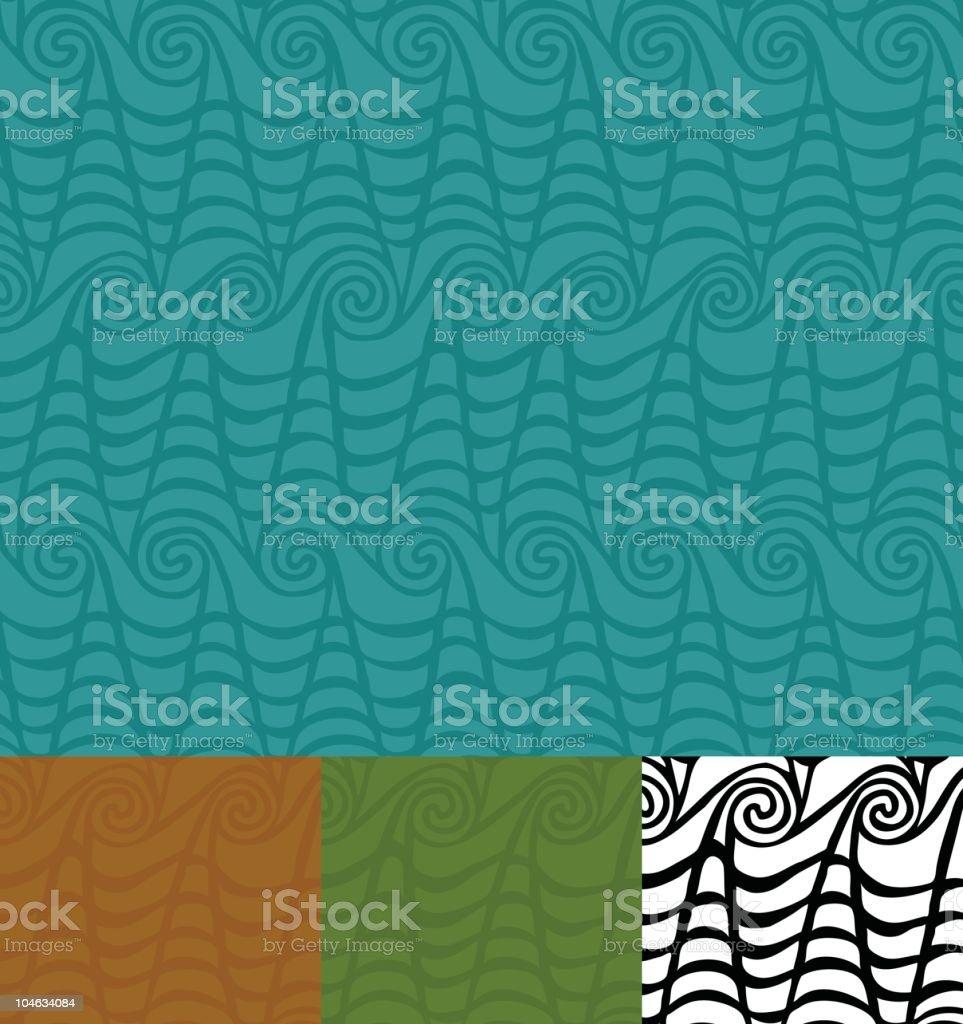 Tiki Waves Wallpaper royalty-free stock vector art