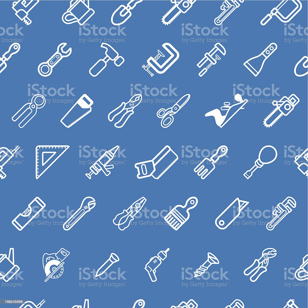 Tilable tools background texture vector art illustration