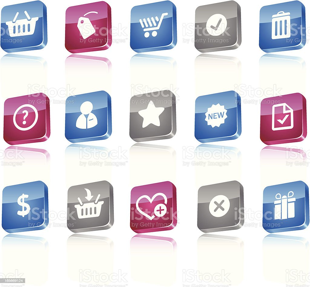 Tile icons royalty-free stock vector art