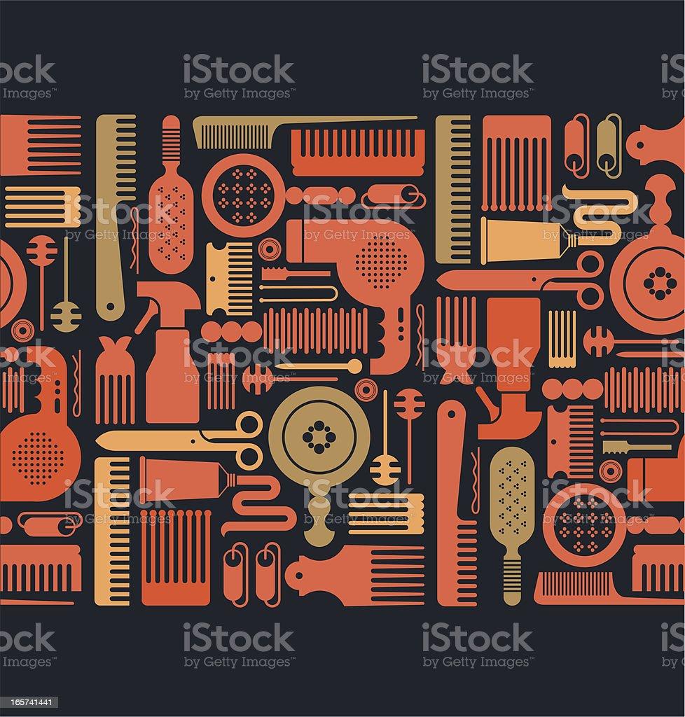 Tiled horizontal background royalty-free stock vector art