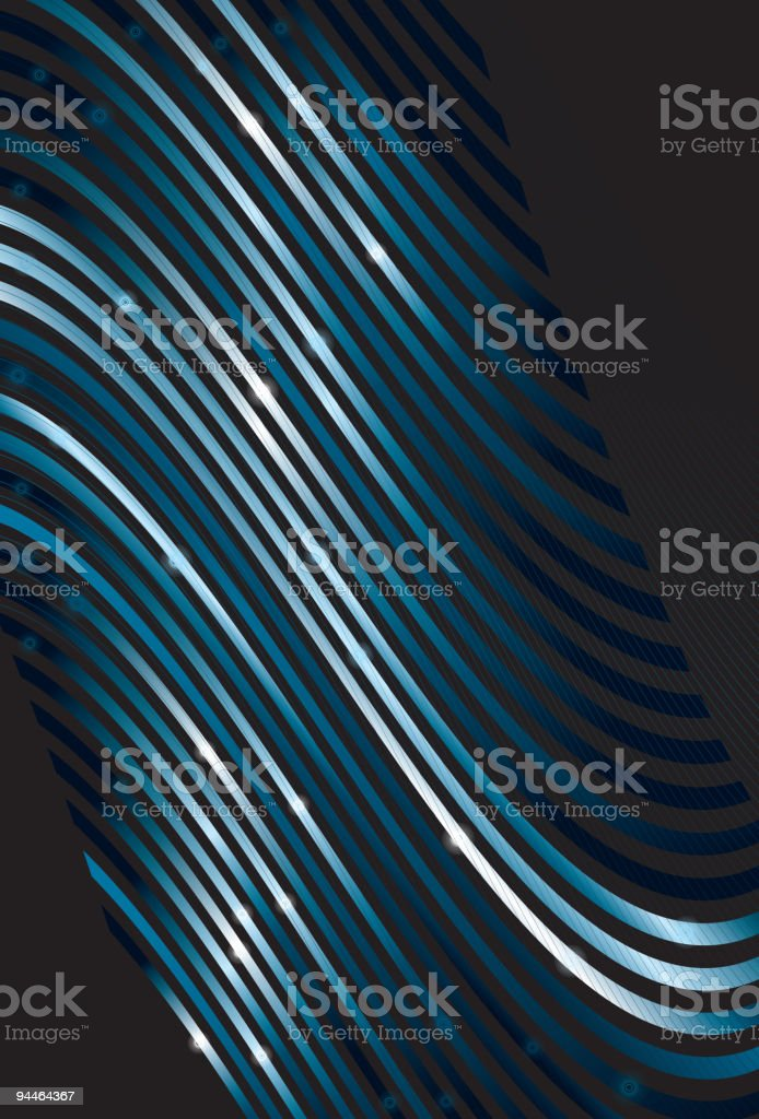 Tilted perspective wavy line background royalty-free stock vector art