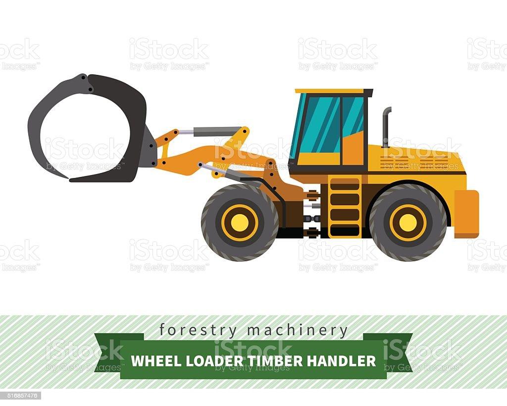 Timber handler vehicle vector art illustration