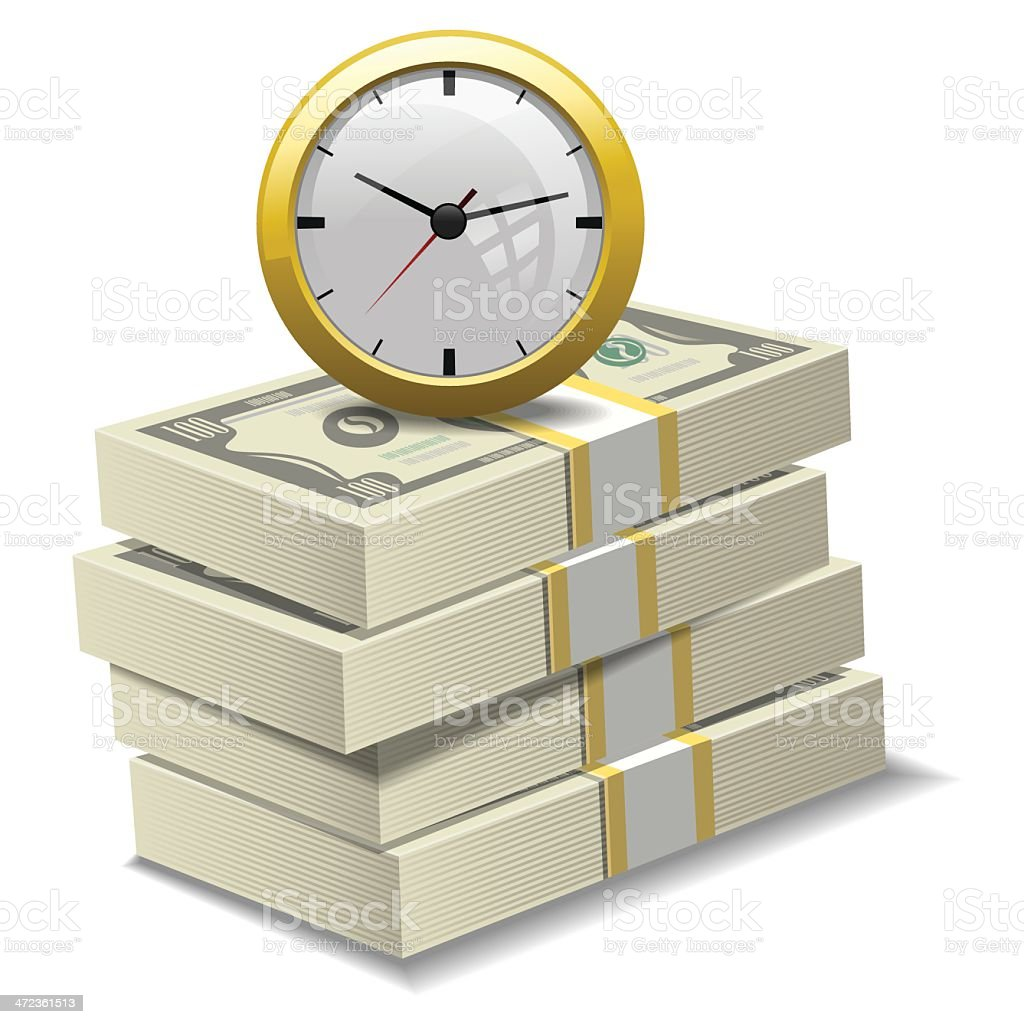 Time and Money vector art illustration