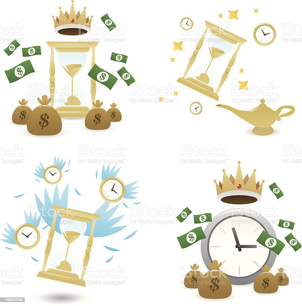 Time big icons royalty-free stock vector art
