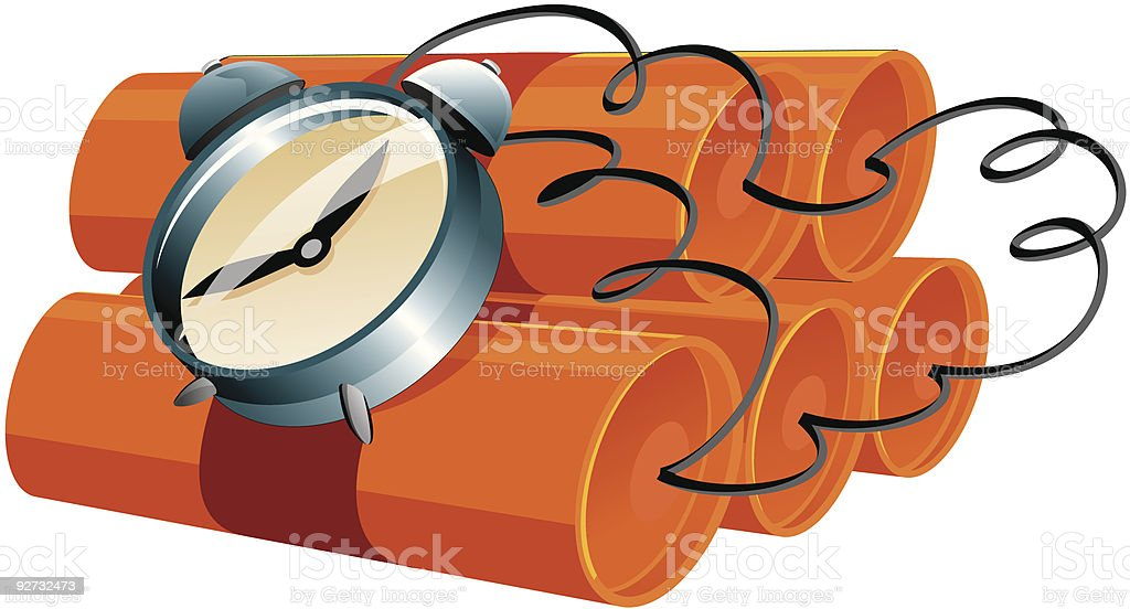 Time Bomb - The cartoon toolbox series vector art illustration