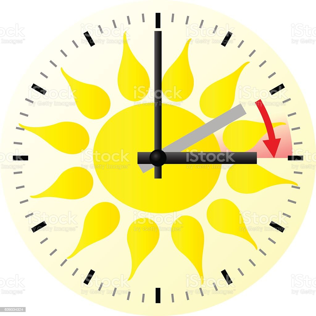 Time Change To Daylight Saving Time stock vector art 639334324 ...