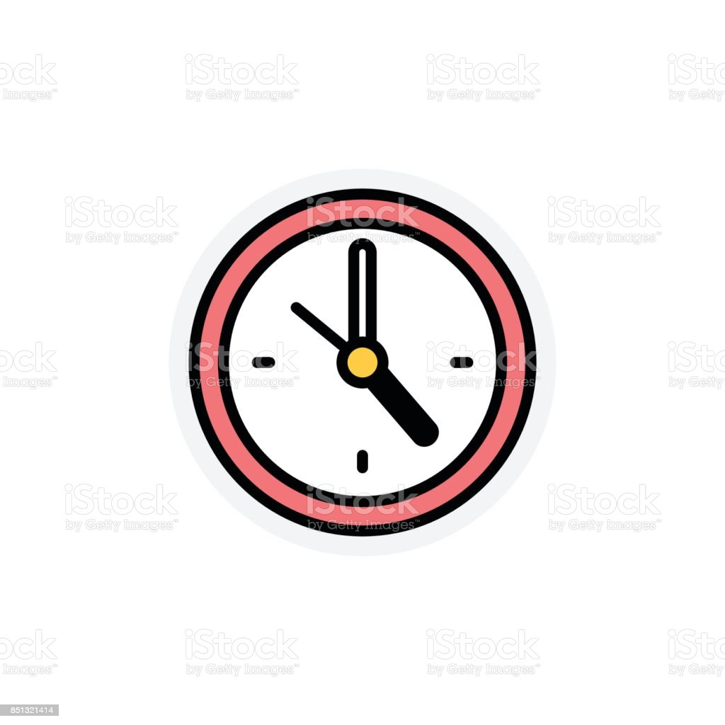 Time concept Isolated Line Vector Illustration editable Icon vector art illustration