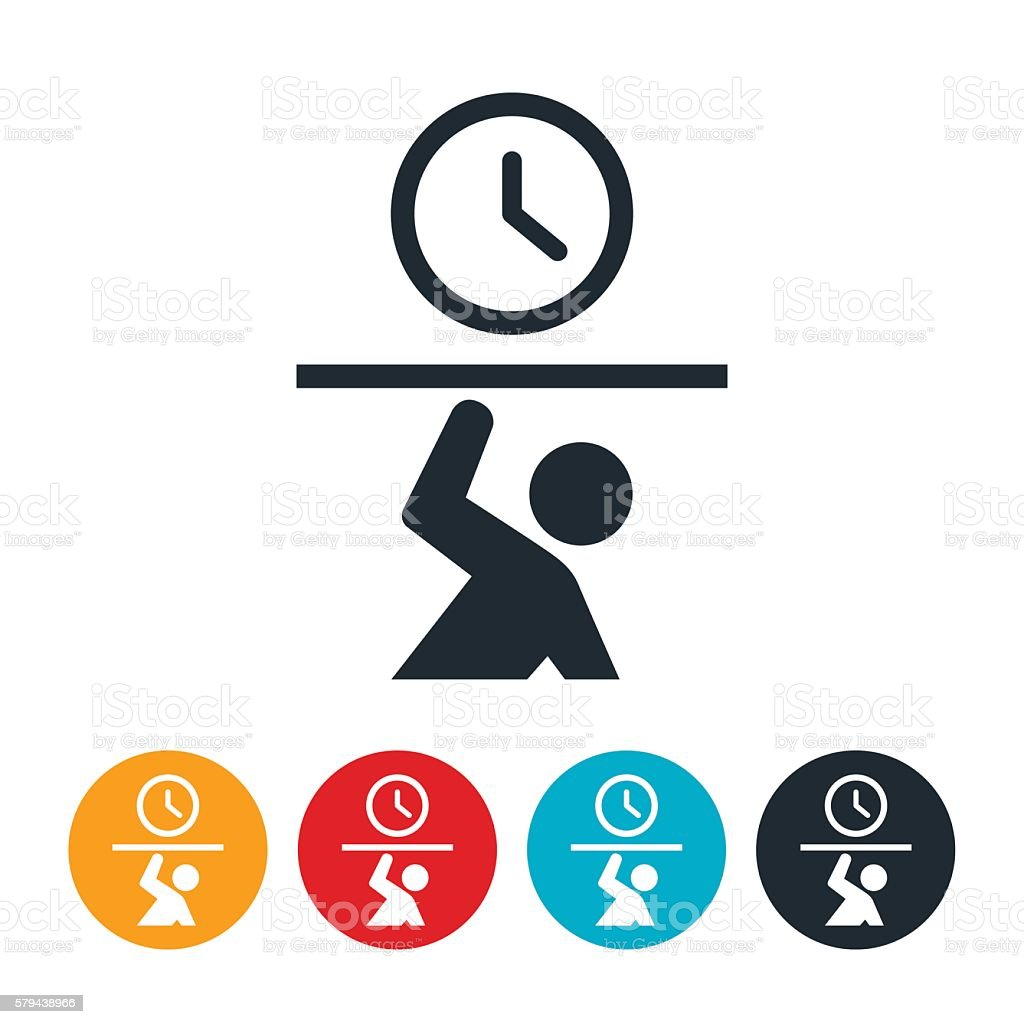 Time Crunch Icon vector art illustration