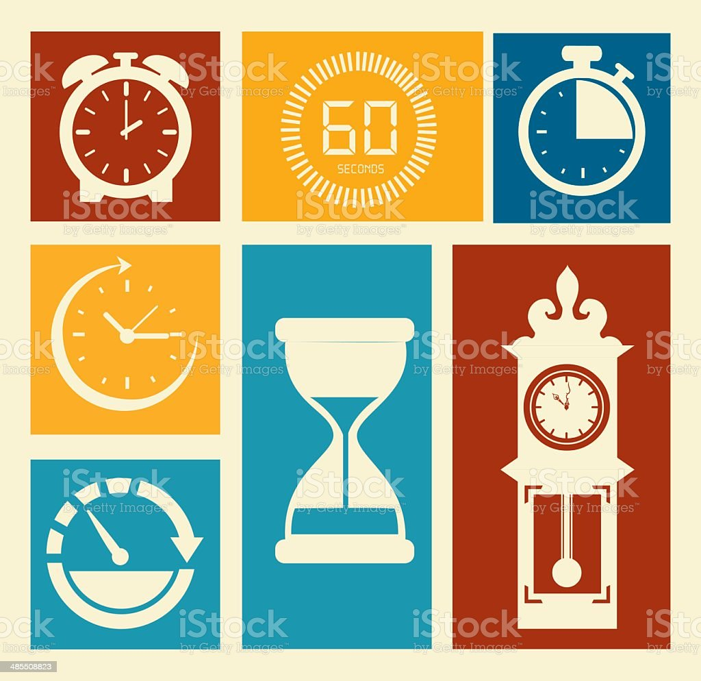 time design vector art illustration