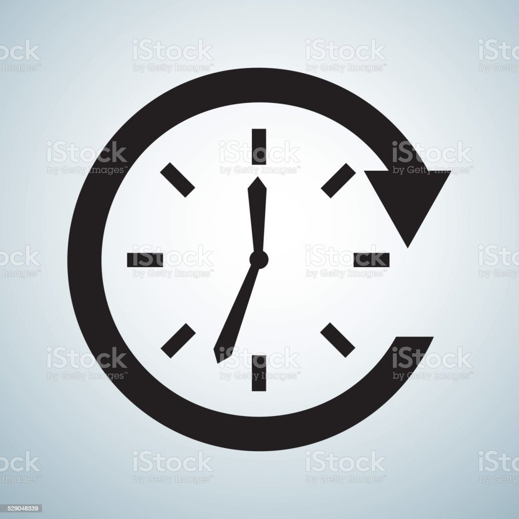 time design vector art illustration