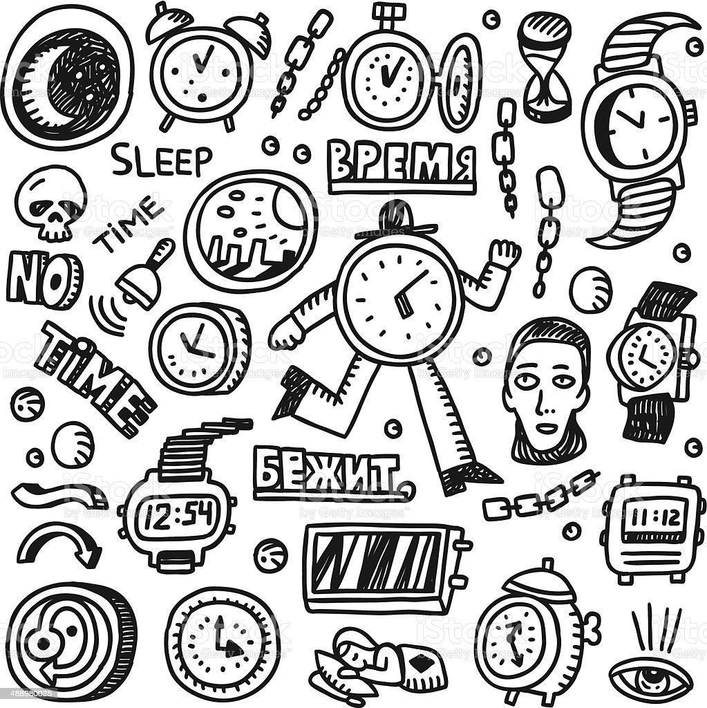 Time - set vector cartoons