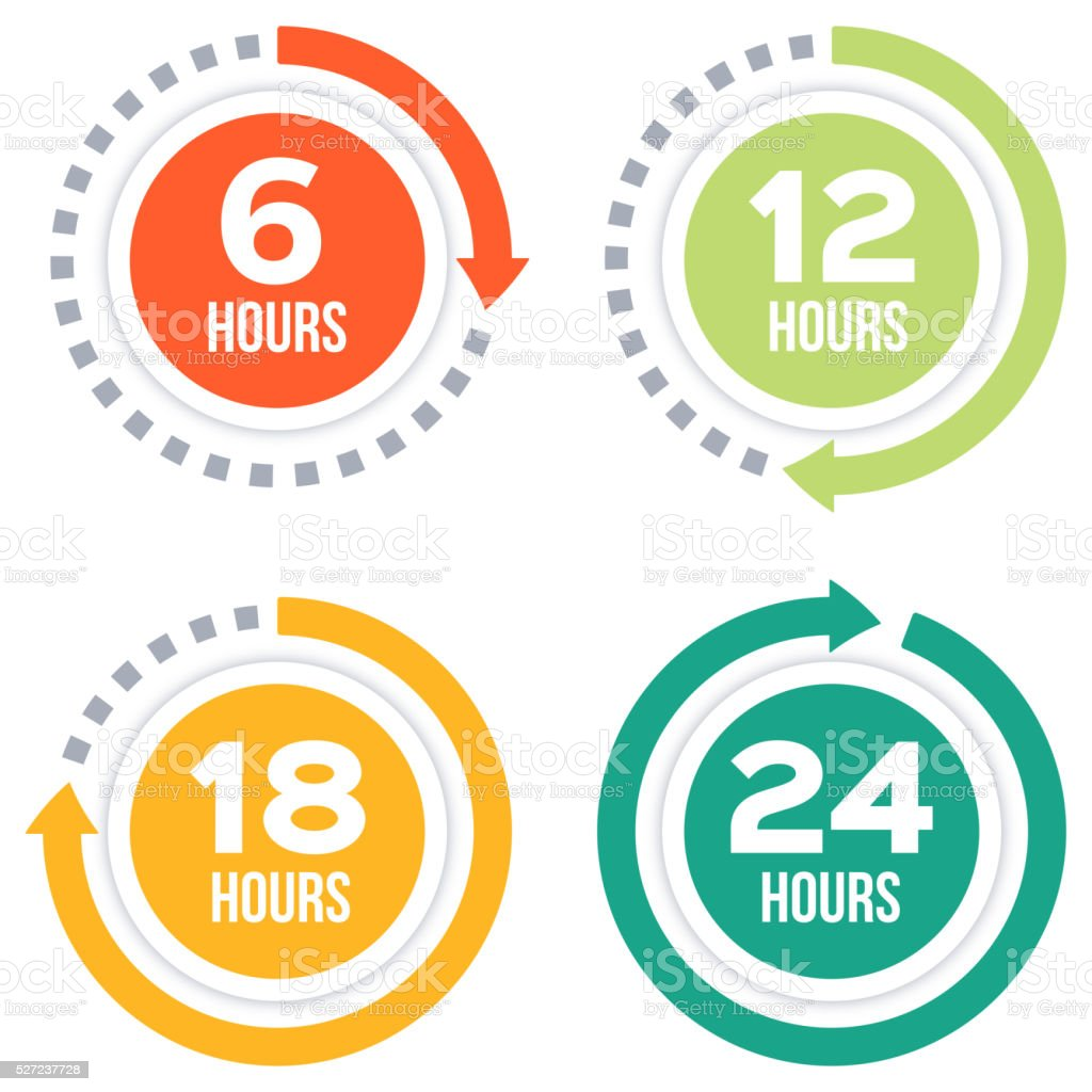 Time Elapsed Arrow Concepts vector art illustration