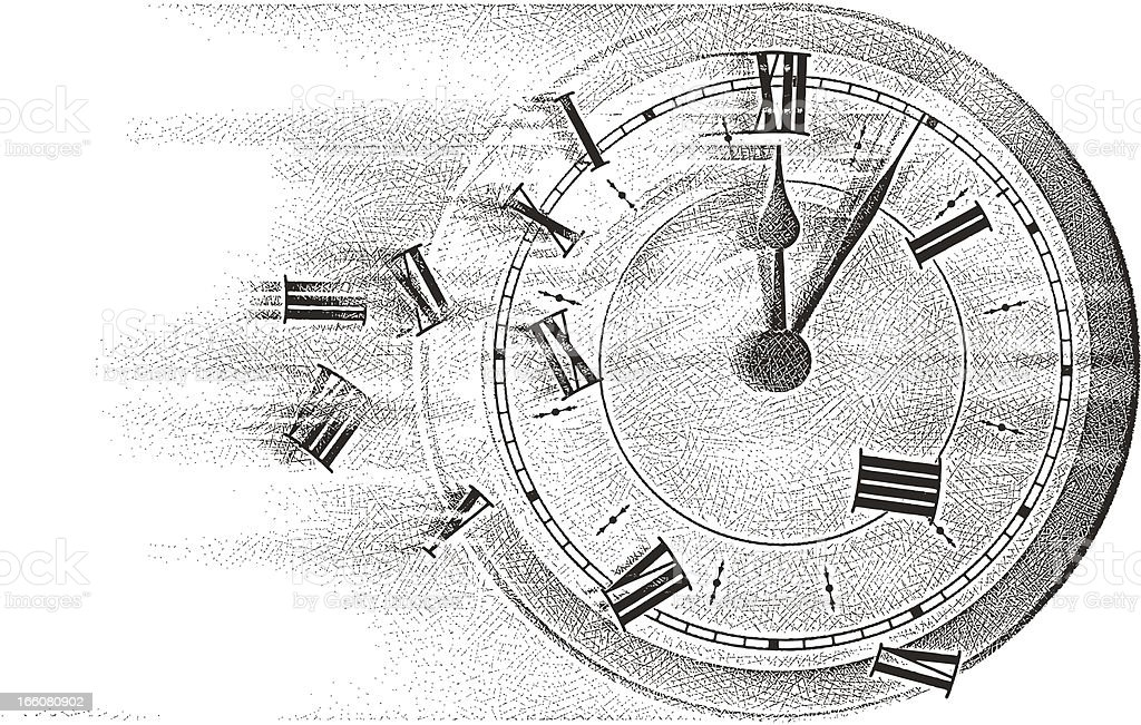 Time Flies royalty-free stock vector art