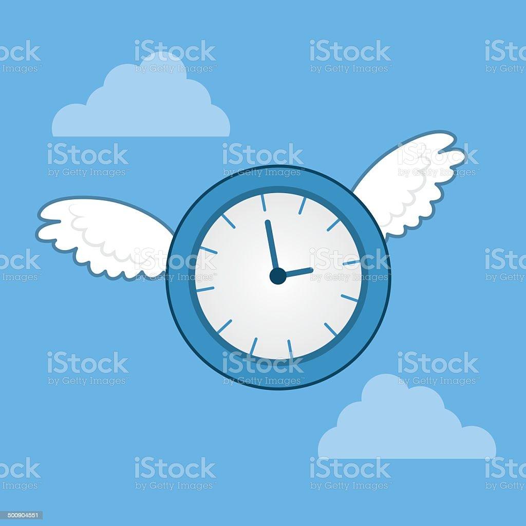 Time Flies Wings royalty-free stock vector art