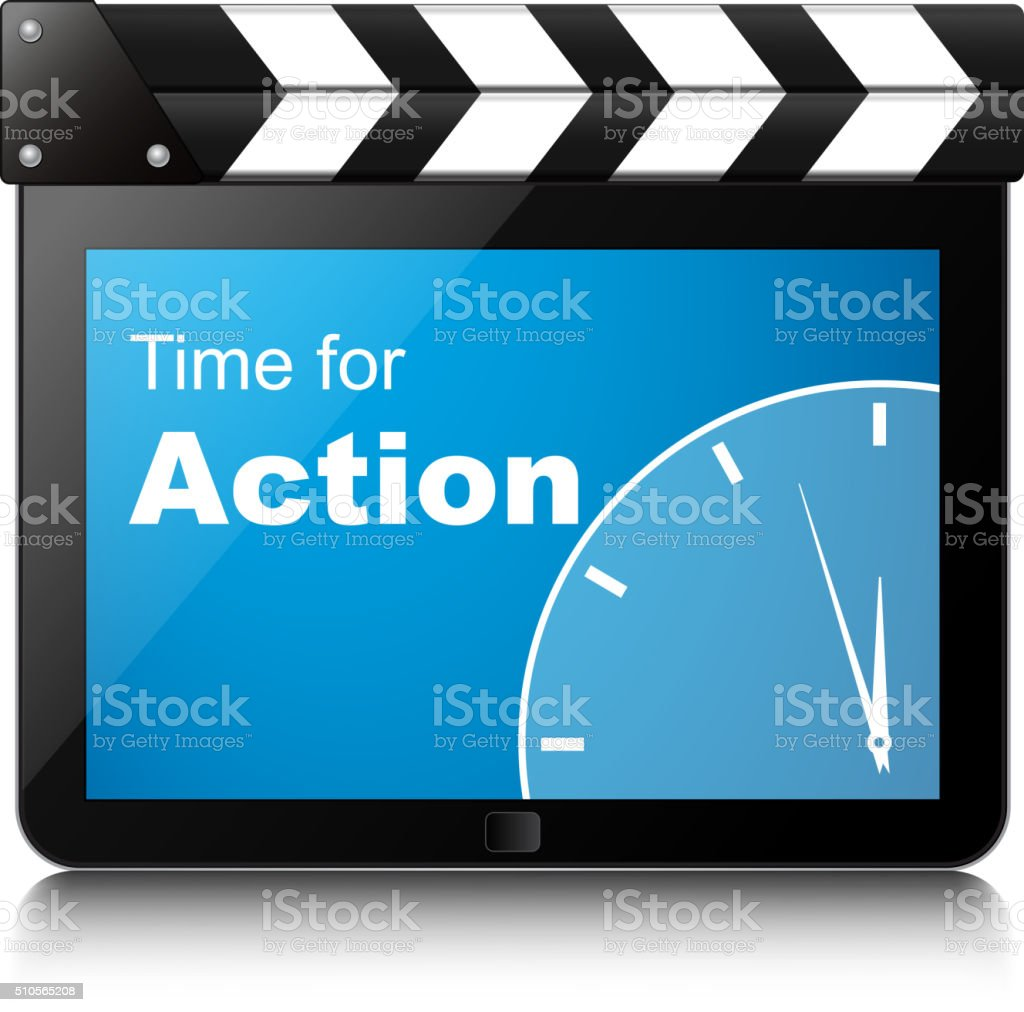 Time for action vector art illustration