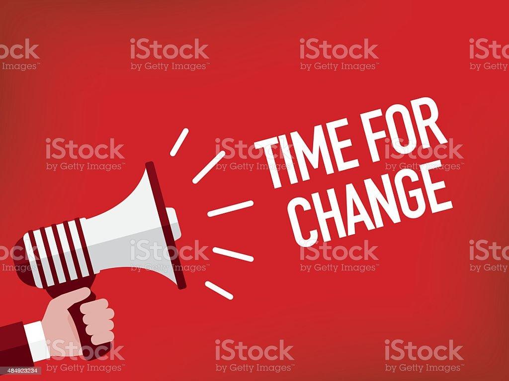 Time for change vector art illustration