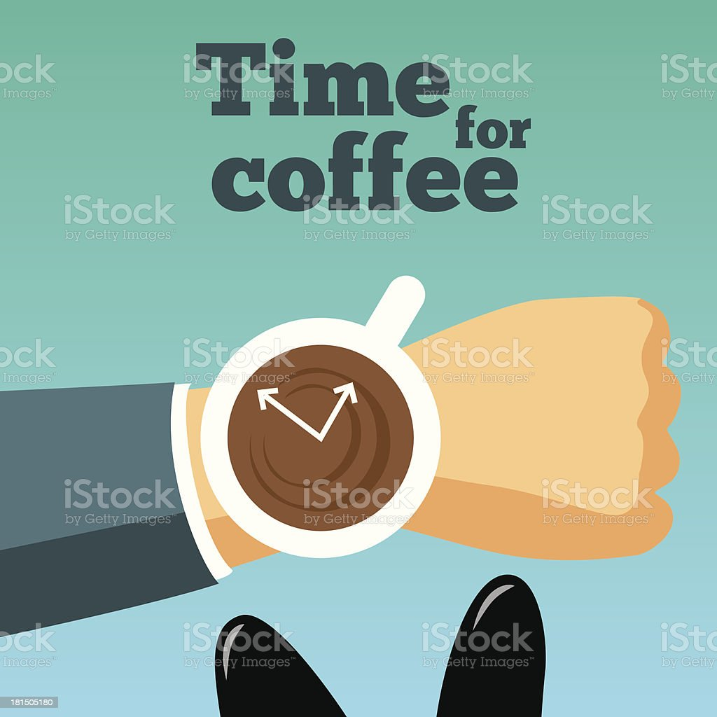 Time for coffee vector illustration. royalty-free stock vector art