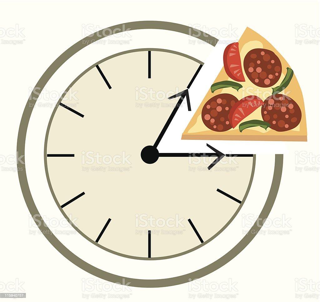 Time for lunch vector art illustration