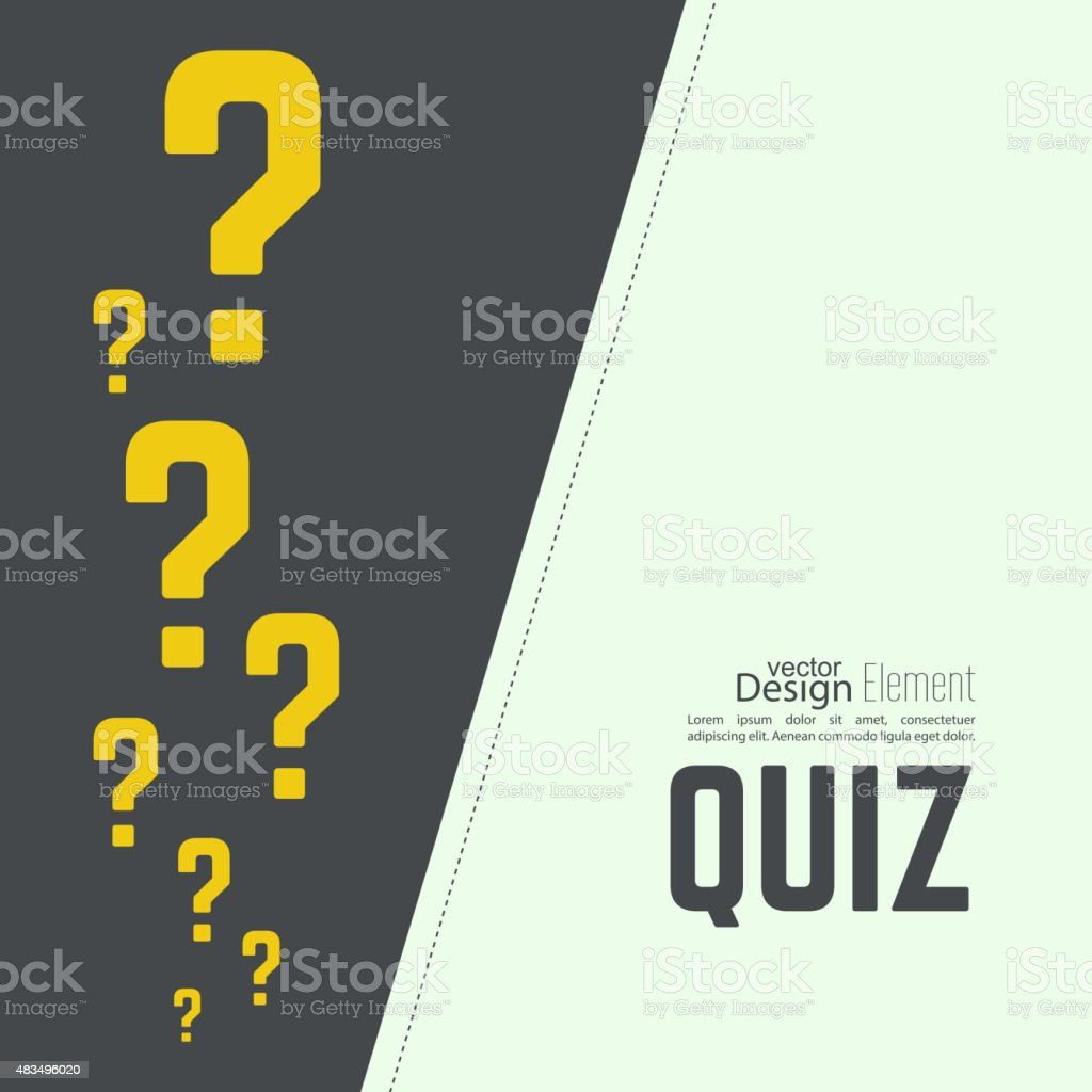 Time for questions and answers vector art illustration