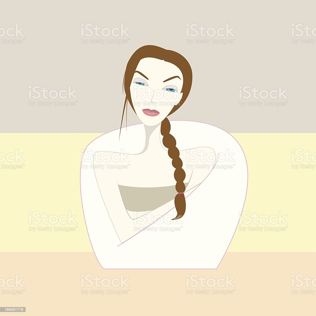 time for yourself royalty-free stock vector art