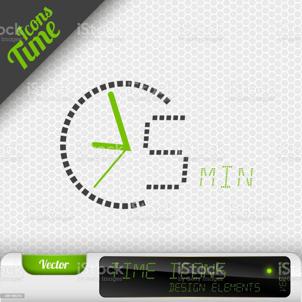 Time Icon 5 Minutes Symbol Vector Design Elements vector art illustration