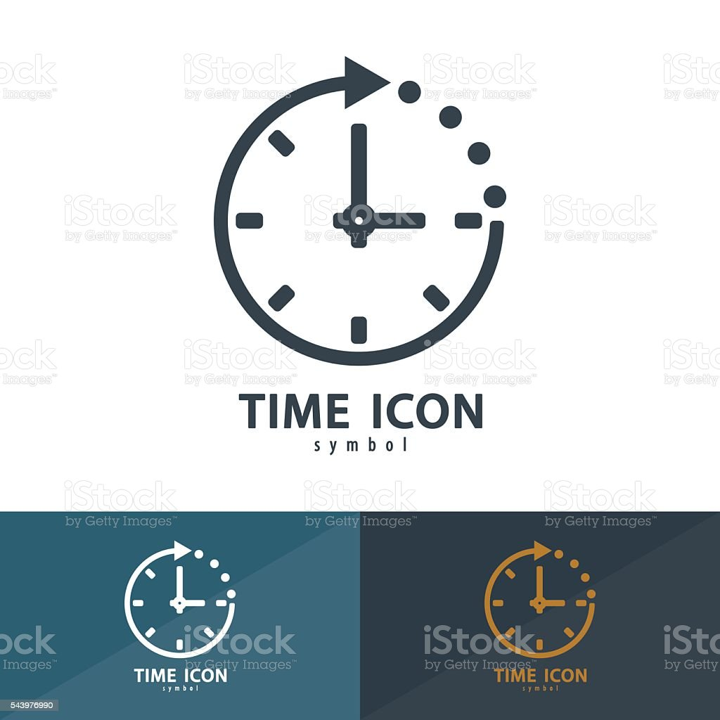 Time icon symbol vector art illustration