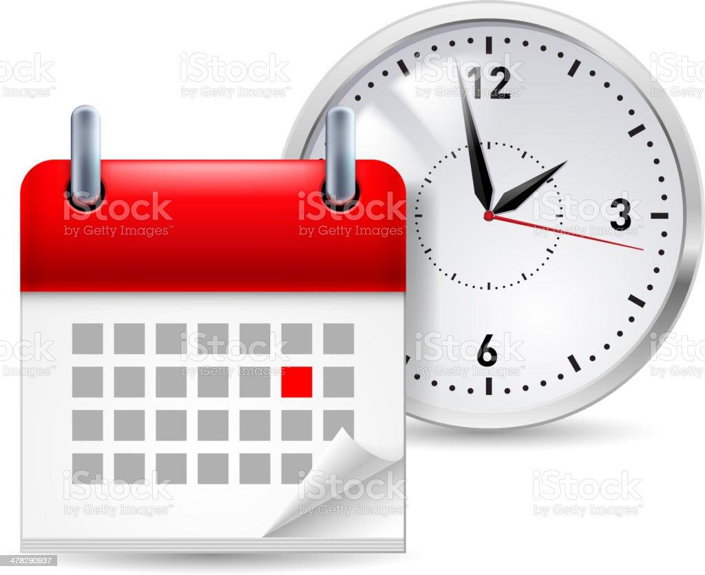 Time icon vector art illustration