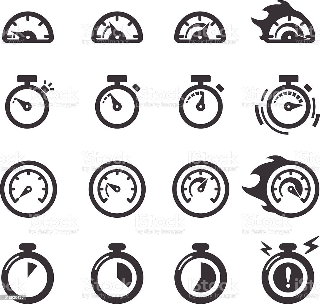 Time Icons - Acme Series vector art illustration