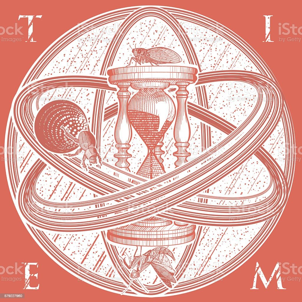 Time Infinity Part 1 vector art illustration