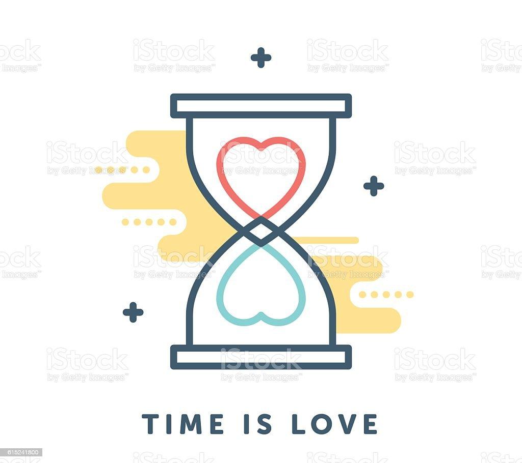 Time is Love vector art illustration