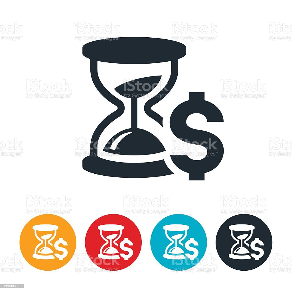 Time Is Money Icon vector art illustration