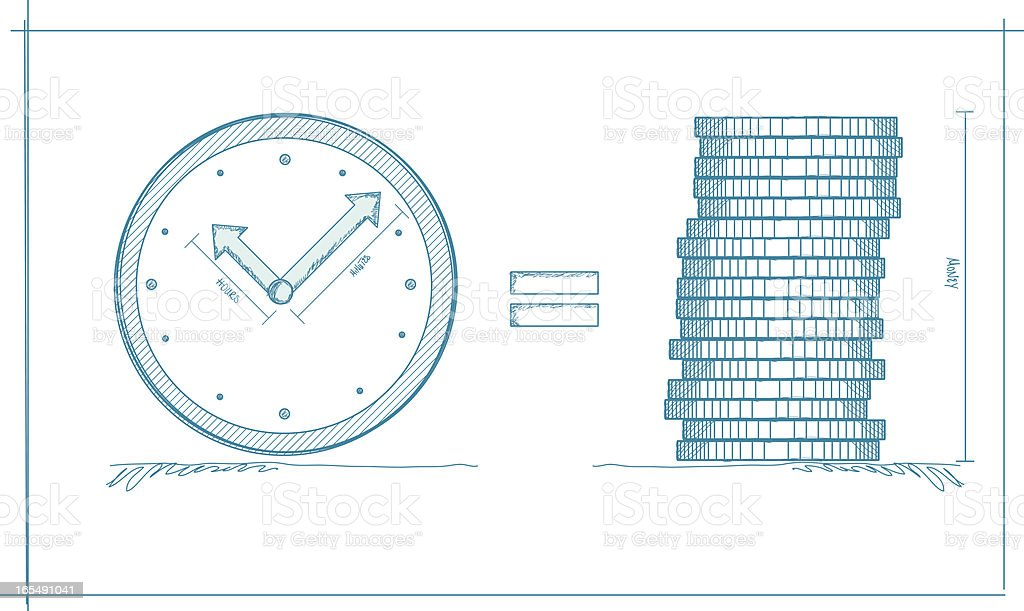 Time is money royalty-free stock vector art