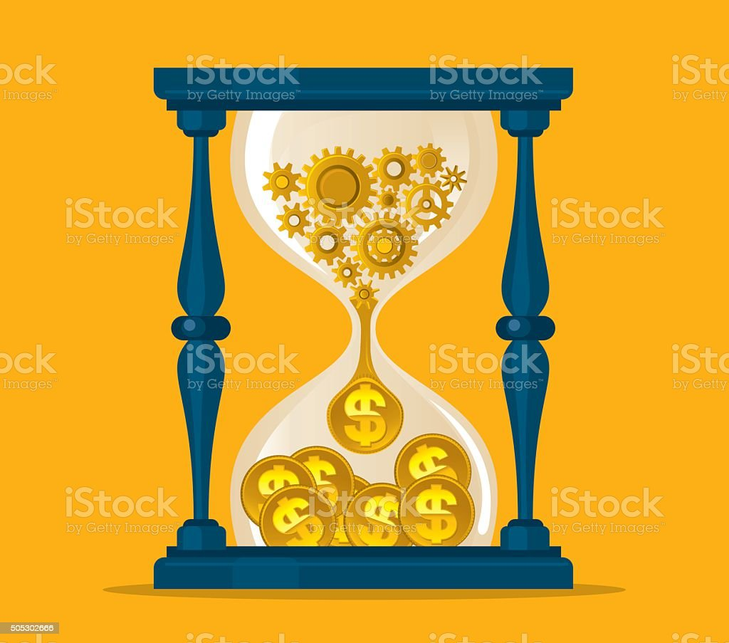 Time is money vector art illustration