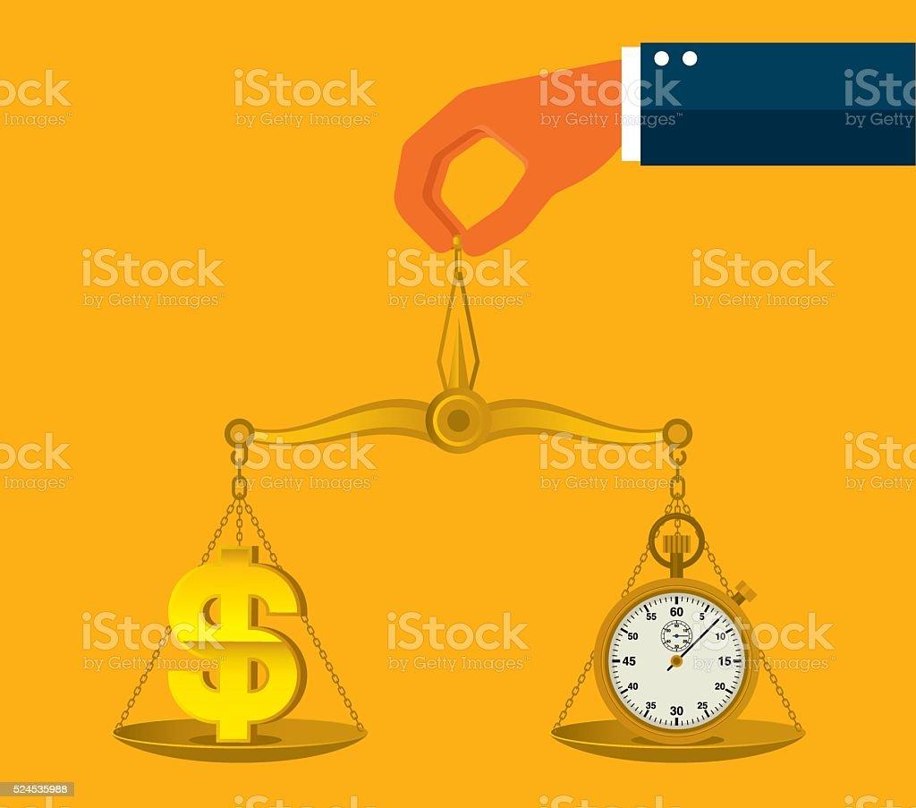 Time is money vector art illustration