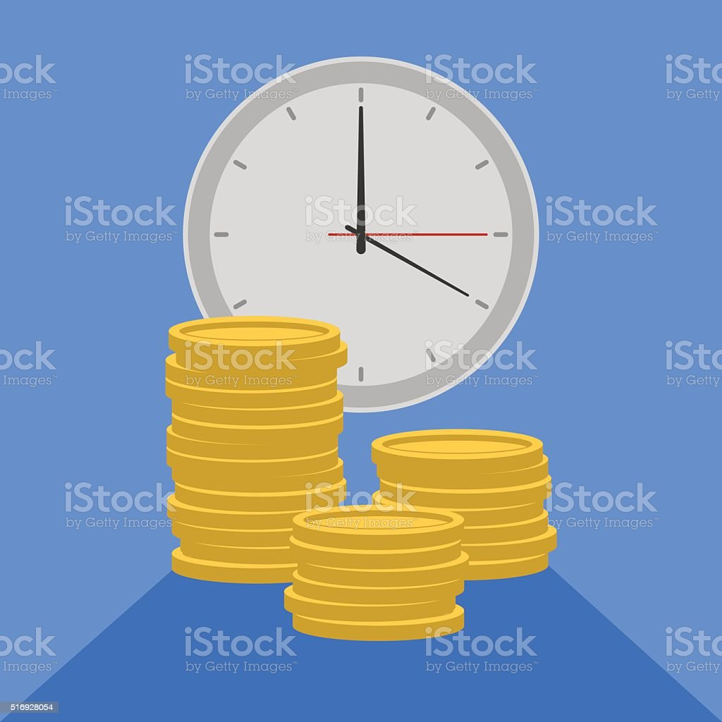 time is money4 vector art illustration