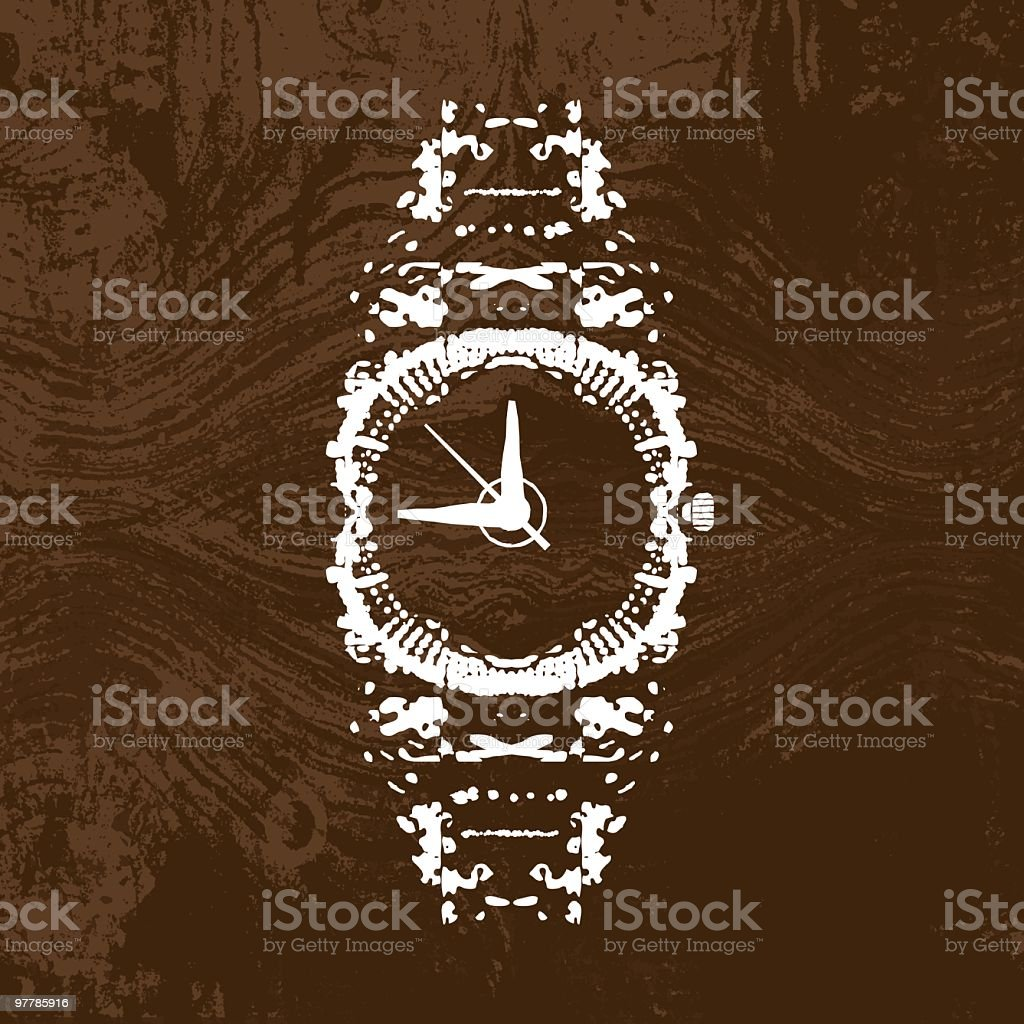 Time Is On My Side vector art illustration