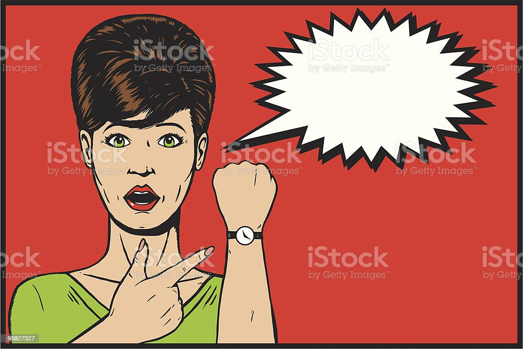 Time is running out royalty-free stock vector art