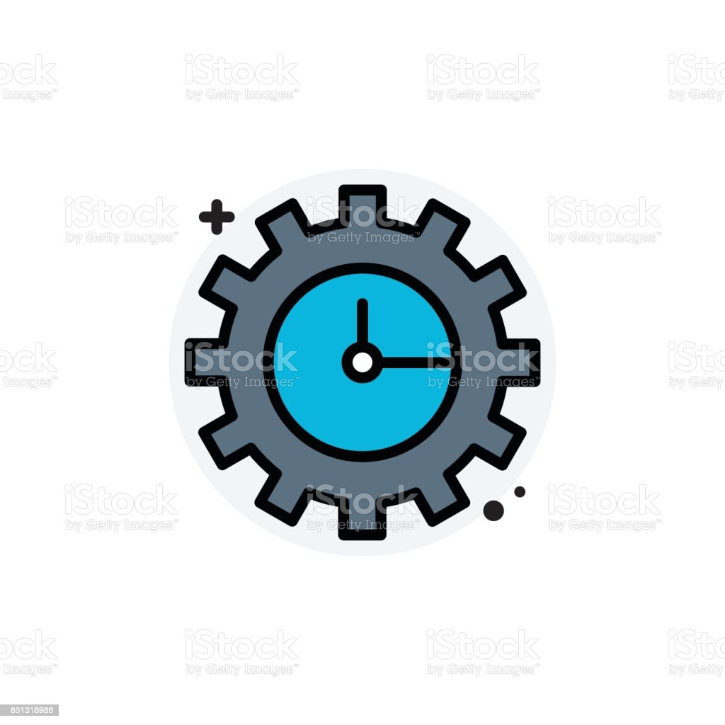 Time management concept Isolated Line Vector Illustration editable Icon vector art illustration
