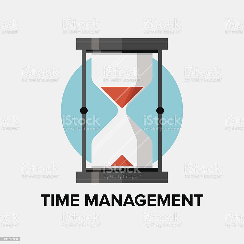Time management flat illustration vector art illustration