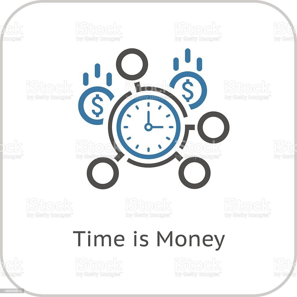 Time Management Icon. Business Concept. Flat Design. vector art illustration
