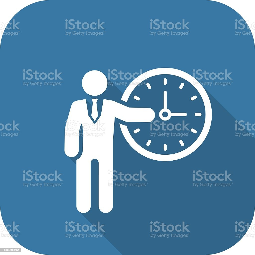 Time Management Icon. Business Concept. vector art illustration