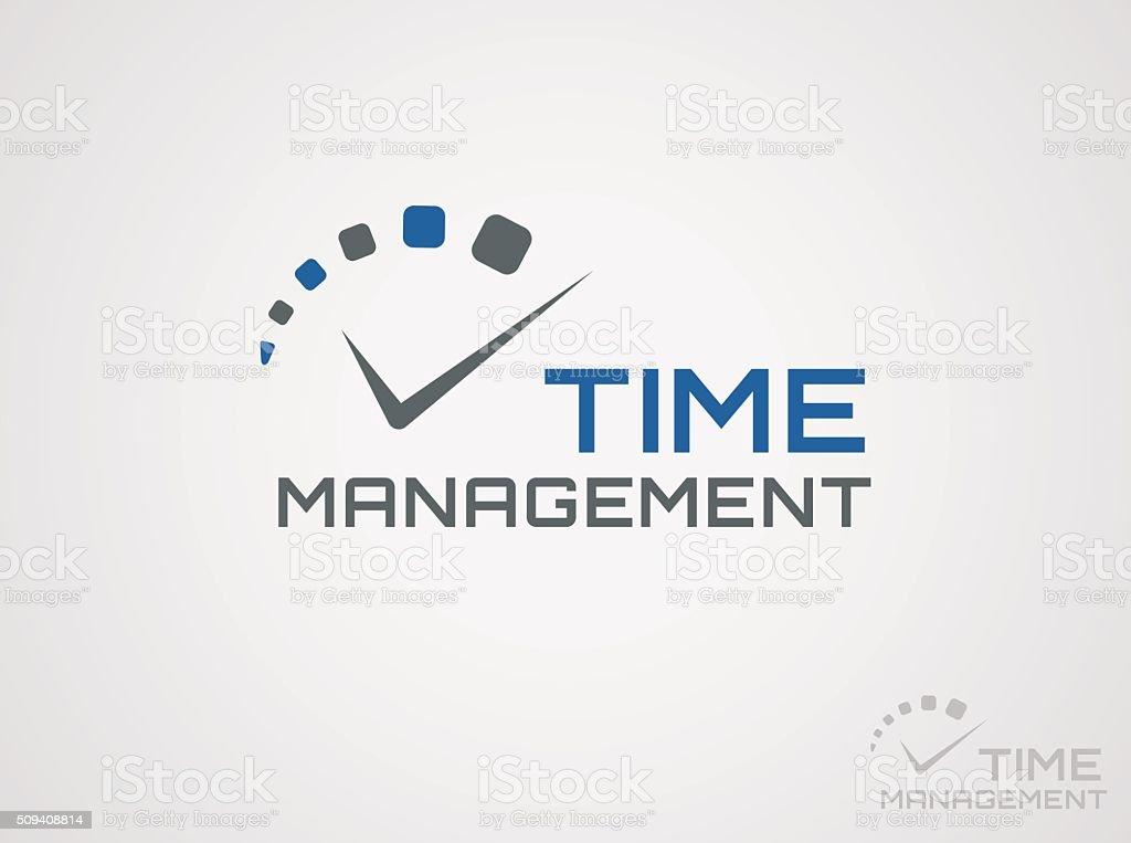 Time management logo. vector art illustration