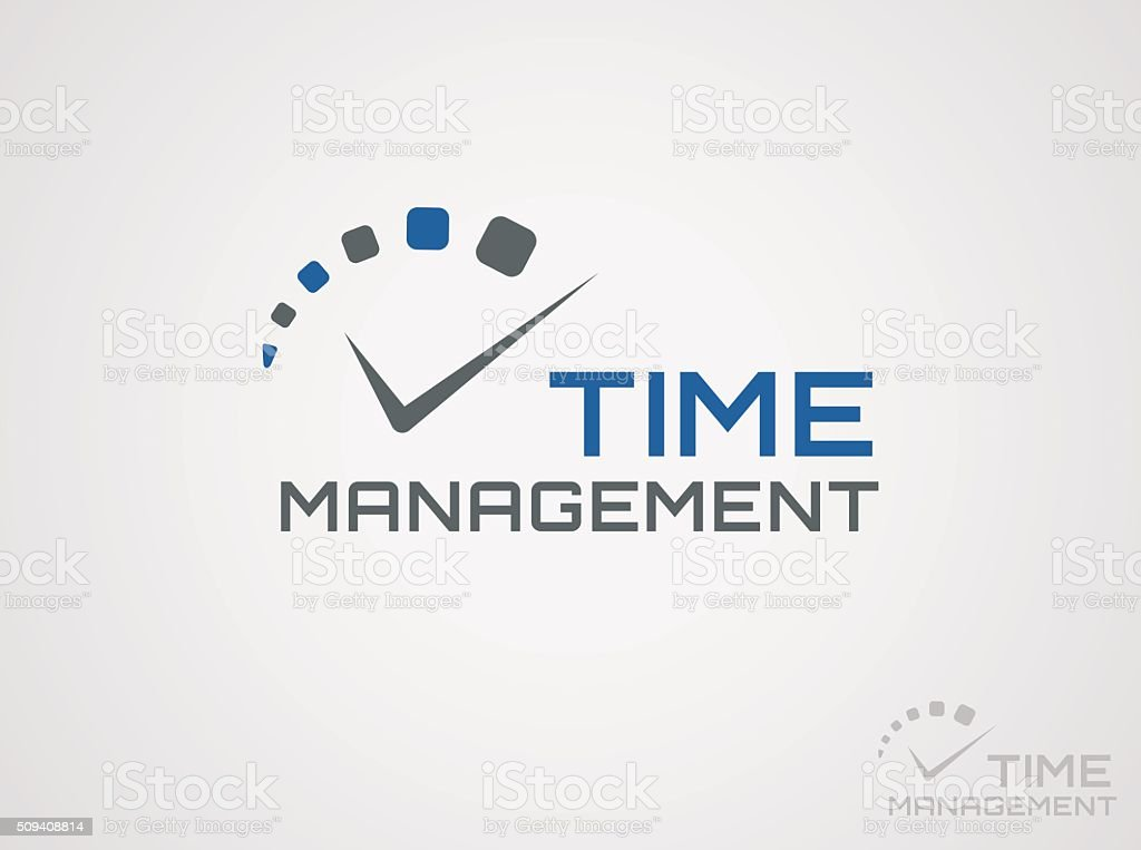 Time management logo. vector art illustration