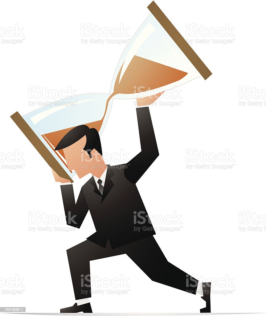 Time management royalty-free stock vector art