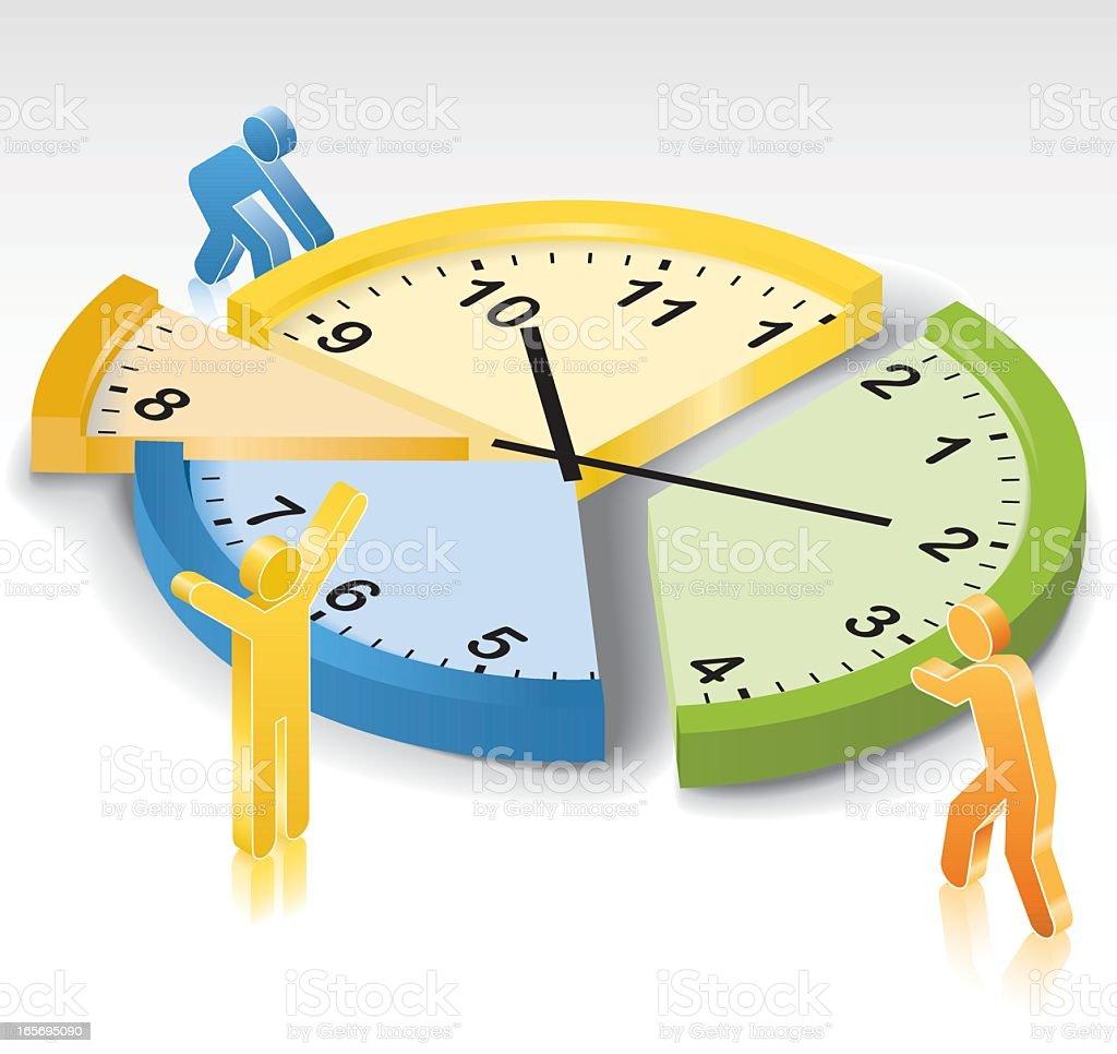 Time Management vector art illustration