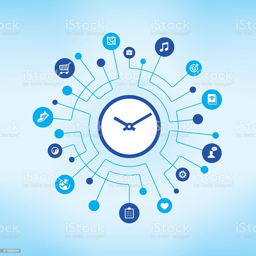 Time Management vector art illustration