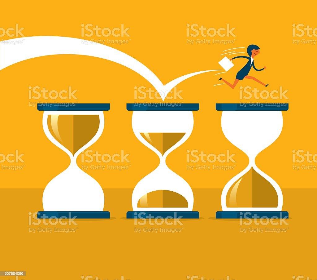 Time pressure vector art illustration