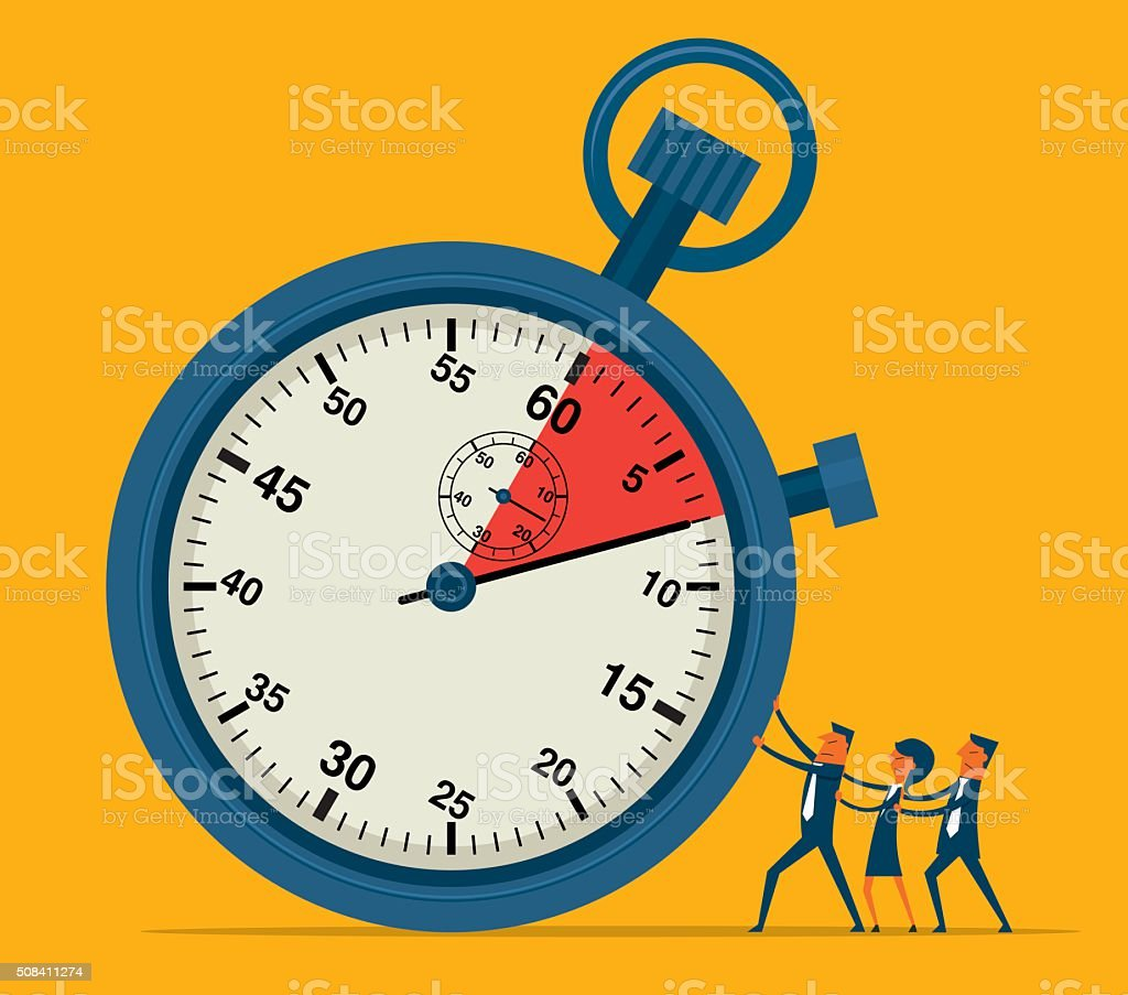 Time pressure vector art illustration